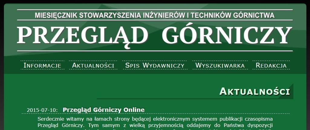 Przegląd Górniczy Online
